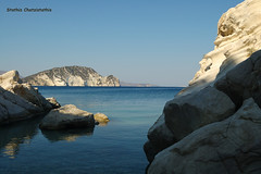 Zakinthos (Greece) (Stathis Chatzistathis) Tags: travel blue sea summer sun reflection beach nature water reflections d50 landscape island nikon rocks europe colours place expressions location greece impressions zante zakynthos stoneisland zakinthos stathis