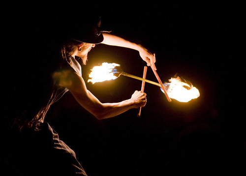 creative commons hi-res photo of the day:  fire twirler (3012 x 2156)