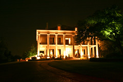 Dunleith Plantation at night