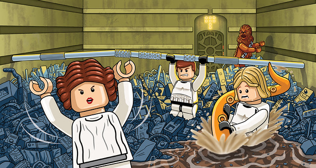 free printable lego star wars decals. Lego:Star Wars Trash Compactor Scene.
