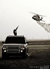 Land Rover vs Helicopter (Talal Al-Mtn) Tags: uk fog war gun tank smoke rover ku land kuwait landrover worldwar lr kw kwt lm10 since1948 landroverinkuwait talalalmtnphotography photographybytalalalmtn landrovervshelicopter almtnphotography