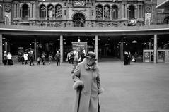 Antwerpen (bm^) Tags: old woman white black station blackwhite nikon belgium belgique zwartwit belgi trainstation antwerp zwart wit antwerpen d90 blackwhitephotos nikond90bw