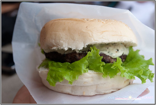 Regrub's Pesto Cream Cheese Burger (P80)