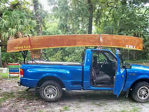 An electric quick canoe.  an easy to roofrack boat.  Simple cheap. Boat plan instructions