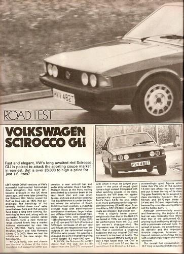 Flickriver: Photoset 'Volkswagen Scirocco 1.6 GLi Road Test 1979' by on vw vortex scirocco, old vw scirocco, volkswagen scirocco,