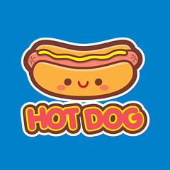 Kawaii Hot Dog T-Shirt (Jerrod Maruyama) Tags: food cute hotdog chibi wiener kawaii junkfood mustard snacks weiner happyjapanese