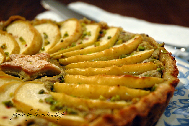 Crostata di fagioli del lago e pistacchi