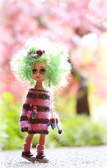 Susie...her hair has a mind of it's own. (jillybug ~) Tags: eyes sad susie pinkgreen cangawaysweater googoojuemitties customlisaann