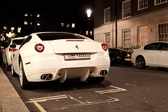 Not what you expect in November. (Alex Penfold) Tags: white london cars alex sports car night canon photography photo cool shot image awesome picture fast super ferrari exotic photograph arab supercar exotica 2010 supercars   arabs penfold   599       450d     hpyer