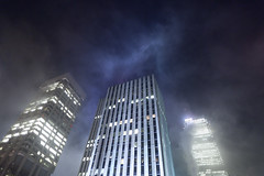 City Fog (Mute*) Tags: city mist toronto fog skyscraper foggy bank bulding sigma20mmf18