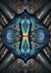 X Node... (Sea Moon) Tags: colors space symmetry abstraction rainbows cosmic kaleidoscopic digitalmirroring pyroxylin