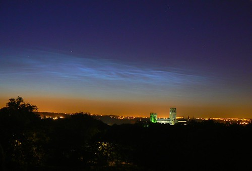 Noctilucent Clouds over  Durham Cathedral