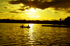 Golden Summer (donpar) Tags: sunset summer washington northwest sunsets canoe pacificnorthwest ysplix