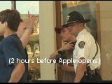 Video Podcast Students Shutdown outside Mac Store
