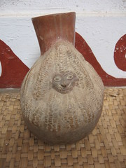 corn woman pottery