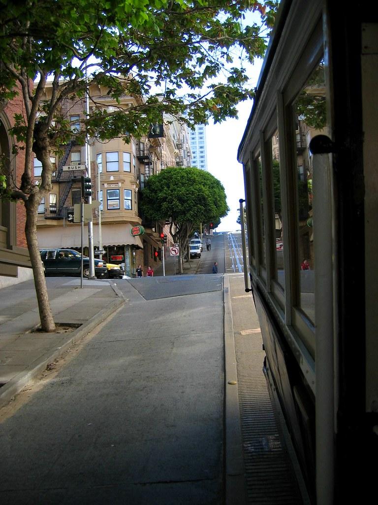 Descente du cable car