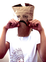 Day 69 | I'm Hideous (ir0cko) Tags: selfportrait ugly threadless day69 paperbag 365days thisistoday