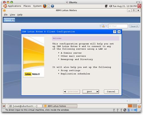 Installing Lotus Notes 8 on Ubuntu