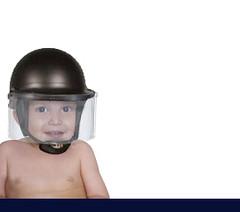 baby riot helmet