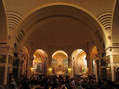 The Rosary Basilica's chapels (Lawrence OP) Tags: france shrine basilica mary rosary lourdes
