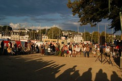 Hip Shot (DeniseJC) Tags: sunset france spectators outdoorconcert vannes hipshot moonshadows impressedbeauty
