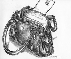EDM #3 - Purses, wallets, bags (Joan Y) Tags: 01 bags purses penandink wallets everydaymatters pigmamicron edm3 pigmamicron005 5inx55in
