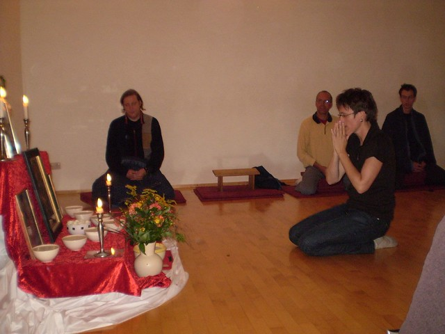 Pedi's Mitra ceremony in Buddhistisches Tor Berlin on 4th September 2007