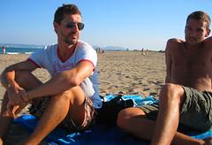 Juan Enric (The Guti) Tags: barcelona friends sunset beach spain view chill 2007 emporda 11s montiro