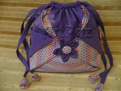Bolsinha orinuno (_ArtPaz _by Tania Paz) Tags: origami botão fuxico patchwork bolsa tecido bolsinha dobradura forrado artpaz orinuno
