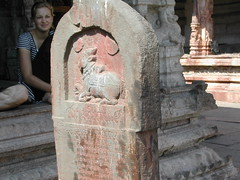 Nandi on a pillar (lakshmi_amman) Tags: dayone hampi virupaksha vijayanagara d1s1