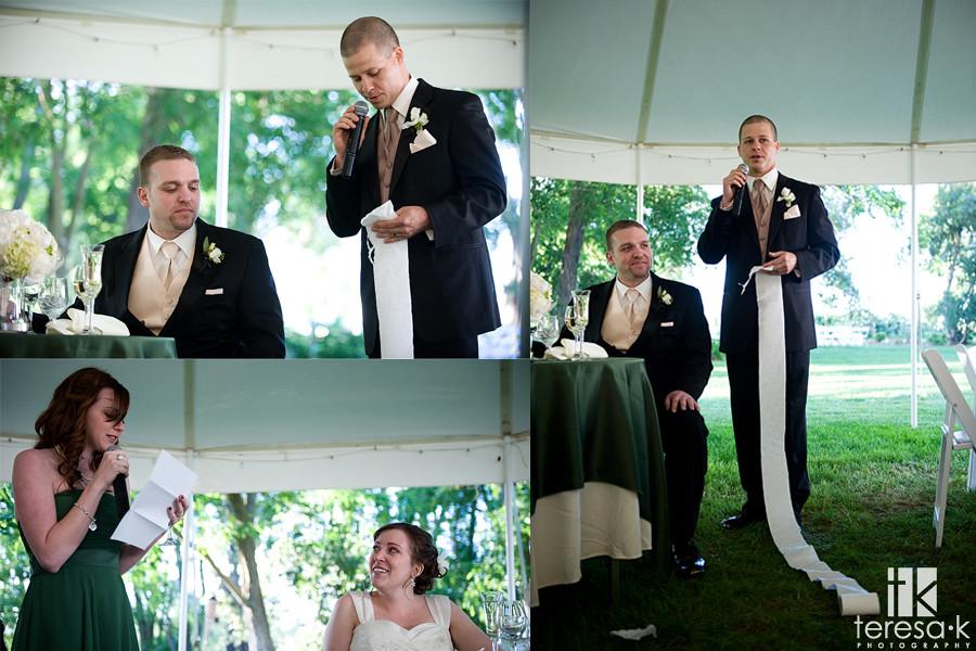 wedding toast by wedding professional Teresa K