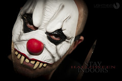 STAY INDOORS (Lightning Lee) Tags: halloween nikon clown sb600 nikkor cls lightroom d300 strobes sb800 1755mmf28 strobist flickrlovers
