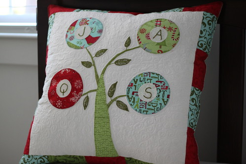 Christmas Family Tree Signature Pillow