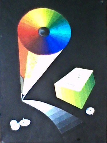 Pencil - Gradient, 2002, Gouache on paper