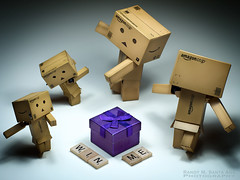 109/365:  A Purple Box With Something In It. (Randy Santa-Ana) Tags: toys gift danbo danboard 365daysofdanbo