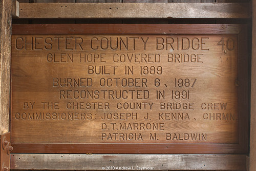 Glen Hope Covered Bridge (1889) - Sign