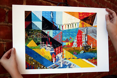 Rainbow Bridge Print (paper whistle) Tags: bridge river transformation pyramid journey eggs ladder rebirth rainbowbridge helpers brandistrickland paperwhistle