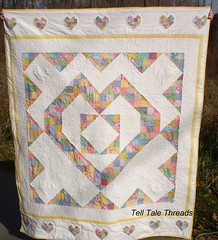 Heart for Basketeers (tell tale threads) Tags: hearts 1930s hst stippling 9block basketeers thangles whitesashing