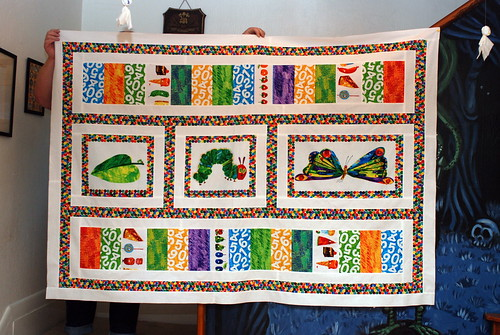 Caterpillar quilt top