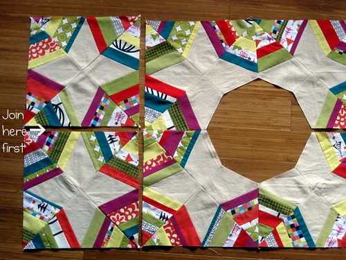 Christmas Tree Skirt Piecing 8
