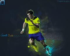 Gareth Bale (ayman_ay17) Tags: light england art by photoshop europa graphic bale premier gareth uefa league tottenham ayman designed hotspur desighn