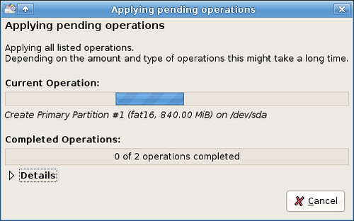 Preparing my USB drive for persistence - creating partitions...