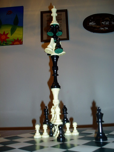 photo of an amazing chess sculpture