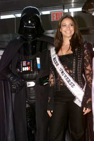 Miss Universe with Darth Vader