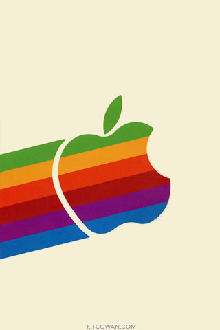 80's Apple Logo on the move