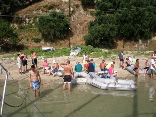 Beach briefing on Parga