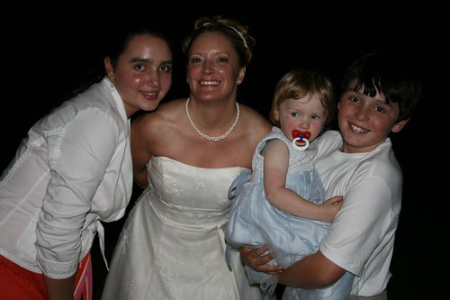 The Bride and her New Neices and Nephew!