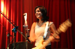 Luisa Micheletti (Ana Luz) Tags: show light shadow brazil portrait people music rock night dark concert live sopaulo stage band vj mtv cb fantasmina luisamicheletti