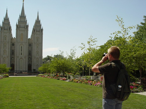 Greg taking a photo of the Temple