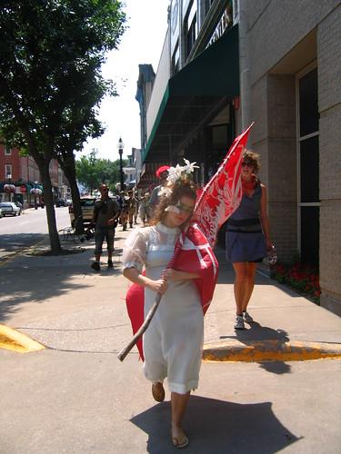 Callie on parade
